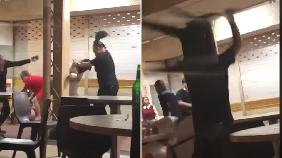 Screengrabs from a video captured of the incident. (PHOTOS: Facebook / Complaint Singapore)