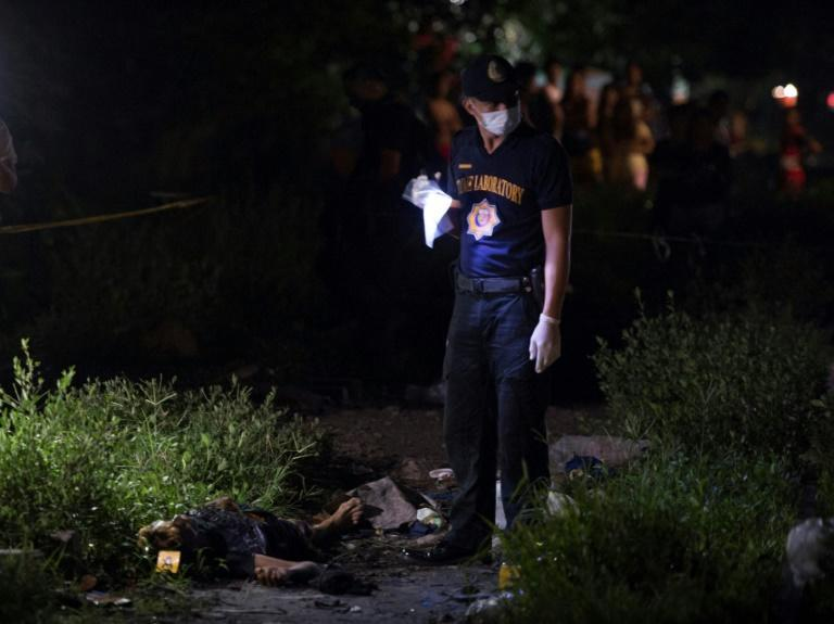 At least 6,181 people have died in more than 200,000 anti-drug operations conducted since July 2016, according to the latest government data (AFP/Ted ALJIBE)