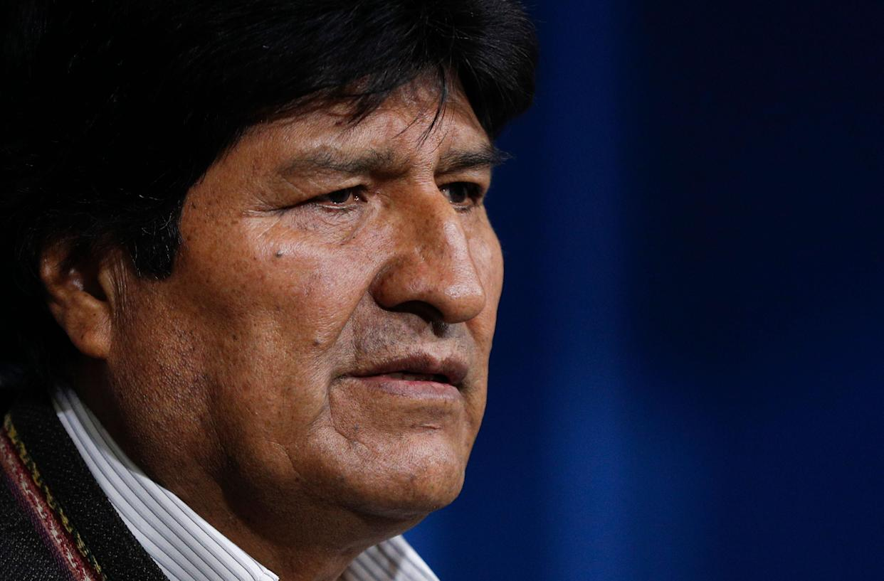 Evo Morales called for new elections in Bolivia following the release of a preliminary report by the Organization of American States that found irregularities in the Oct. 20 vote. He resigned shortly thereafter. (Photo: AP Photo/Juan Karita)