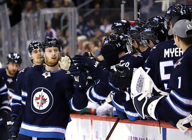 "The <a class=""link rapid-noclick-resp"" href=""/nhl/teams/wpg/"" data-ylk=""slk:Winnipeg Jets"">Winnipeg Jets</a> are showing themselves to be one of the most dangerous teams in the NHL. (Getty Images)"