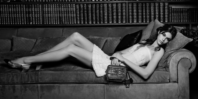 <em>Kaia Gerber poses for Chanel's newest campaign.</em>