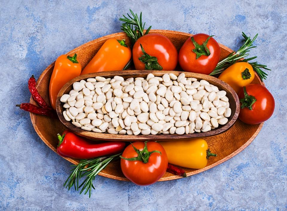 Beans such as Lima Beans, Navy Beans and Green Beans are rich food sources of iodine