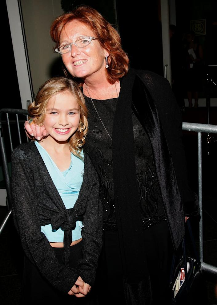 """<div class=""""inline-image__caption""""> <p>Courtney Kennedy Hill and Saoirse Kennedy Hill in October 2006.</p> </div> <div class=""""inline-image__credit""""> Evan Agostini/Getty </div>"""