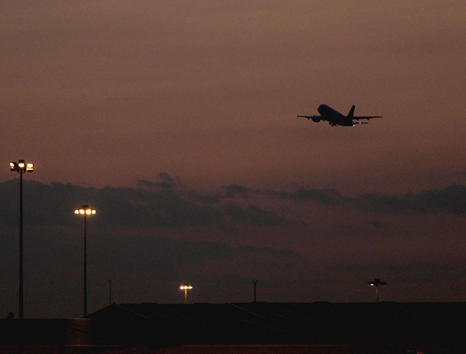 Charter flights leave Stansted airport in the middle of the night or very early in the morning: Getty