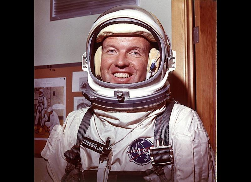 """Astronaut Gordon Cooper, who piloted Mercury and Gemini space missions in the 1960s, once said he saw a """"typical saucer shape, double-cylindrical shape, metallic"""" UFO. He was also outspoken on the idea that some UFOs were interplanetary vehicles visiting Earth."""