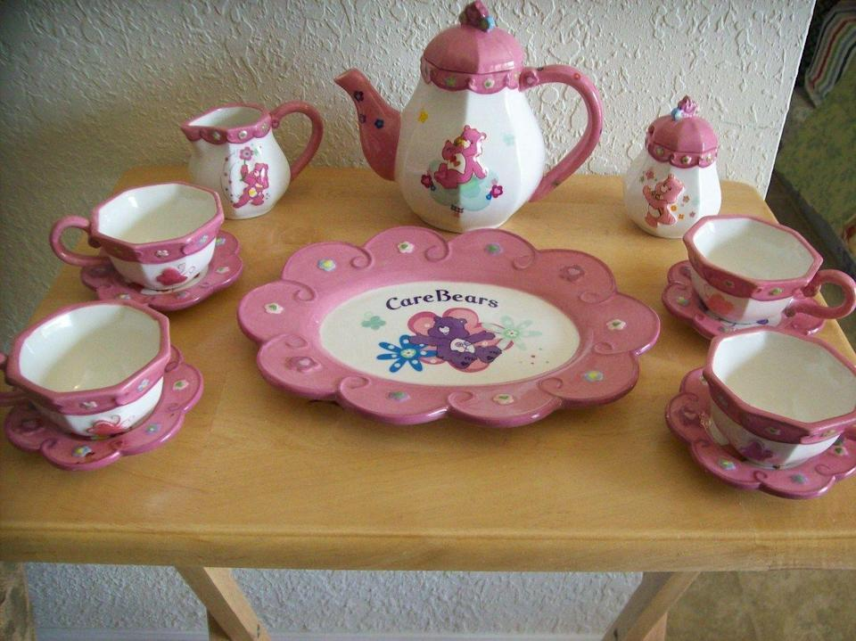 "<p>The finest tea set money could buy. Okay, not really, but the class level you felt from drinking out of this was off the charts. If you never got into yours, you can sell it <a href=""https://go.redirectingat.com?id=74968X1596630&url=https%3A%2F%2Fwww.ebay.com%2Fitm%2FRare-Care-Bears-Tea-Set-Brass-Key-Keepsakes-12-Pc-Set-w-Cups-Saucers-Platter%2F303549844340%3Fhash%3Ditem46acfb0b74%253Ag%253A2lQAAOSw2xRYR54i&sref=https%3A%2F%2Fwww.redbookmag.com%2Flife%2Fg34751269%2Fmost-expensive-valuable-2000s-toys-movies-games%2F"" rel=""nofollow noopener"" target=""_blank"" data-ylk=""slk:for around $100 on eBay!"" class=""link rapid-noclick-resp"">for around $100 on eBay!</a></p>"