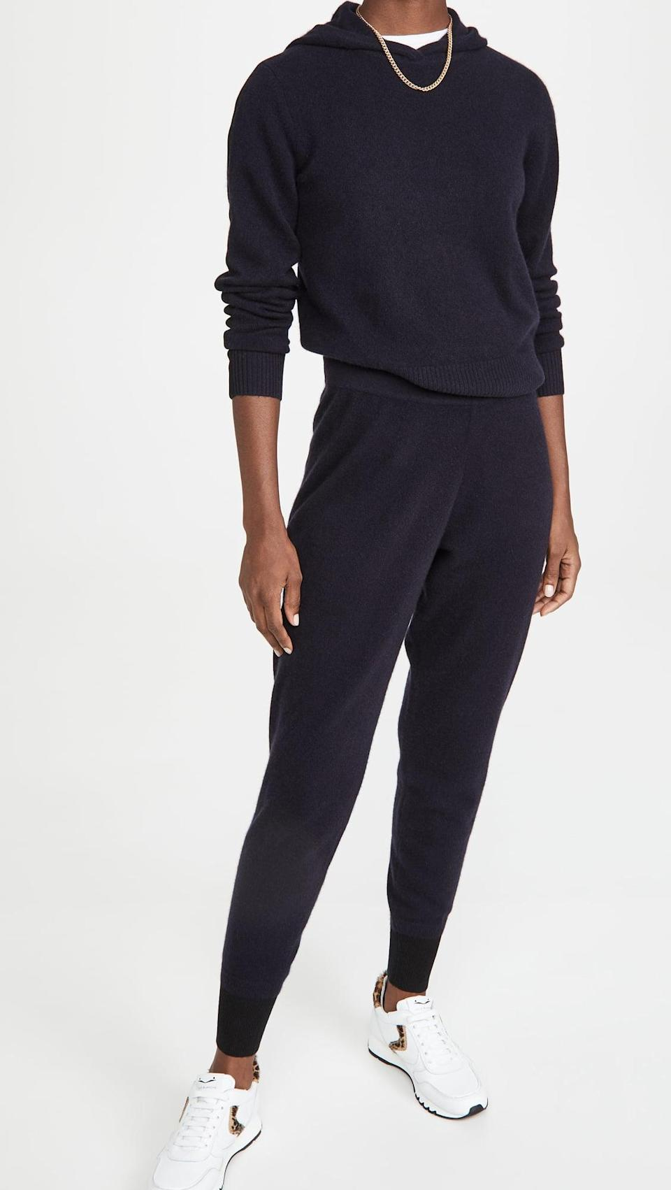 <p>This <span>Naadam Cropped Cashmere Hoodie</span> ($330) and <span>Joggers</span> ($295) looks so pulled together, but is super soft and cozy.</p>