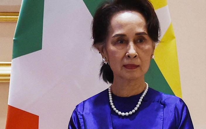 Myanmar's deposed civilian leader Aung San Suu Kyi photographed in 2020 - STR/AFP via Getty Images