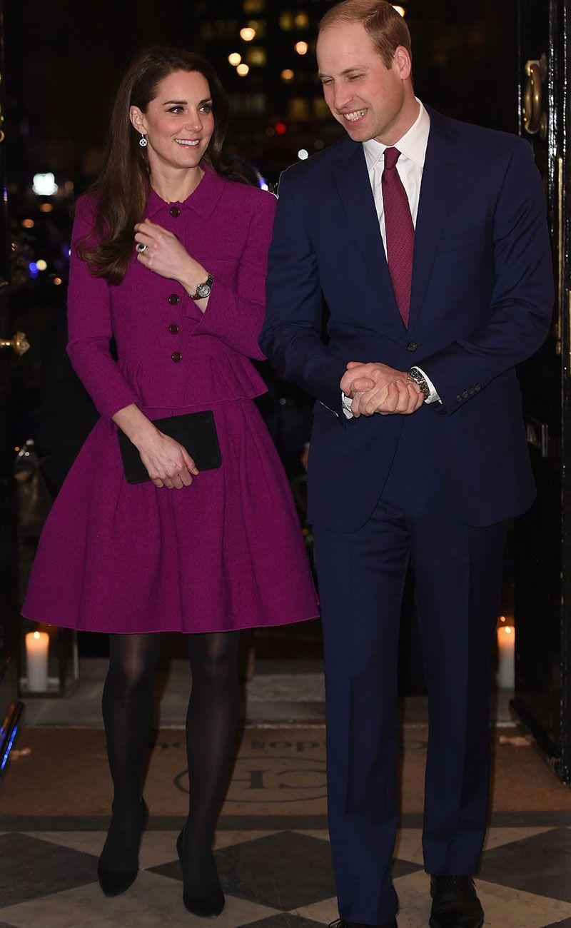 <p>The Duchess first wore the look back in 2017, when she and Prince William attended a writer's conference together. She paired the look with tights then, but chose a plain black clutch and black pumps as accessories. </p>