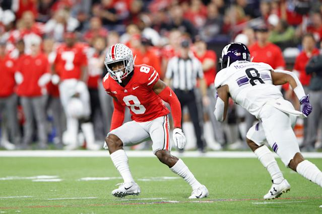 Ohio State's Kendall Sheffield suffered an injury at an important part of the NFL draft process. (Getty Images)