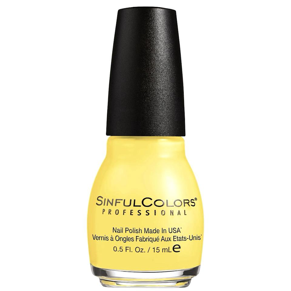 """<p><a href=""""https://www.popsugar.com/buy/Sinful-Colors-Nail-Polish-Yolo-Yellow-479883?p_name=Sinful%20Colors%20Nail%20Polish%20in%20Yolo%20Yellow&retailer=walmart.com&pid=479883&price=2&evar1=bella%3Aus&evar9=46498434&evar98=https%3A%2F%2Fwww.popsugar.com%2Fbeauty%2Fphoto-gallery%2F46498434%2Fimage%2F46498588%2FSinful-Colors-Nail-Polish-Yolo-Yellow&list1=eva%20longoria%2Ccelebrity%20beauty%2Cmanicure%2Cnail%20polish%2Cnails%2Csummer%20beauty%2Cbeauty%20trends%2Ccelebrity%20nails%2Cbeauty%20news&prop13=mobile&pdata=1"""" rel=""""nofollow"""" data-shoppable-link=""""1"""" target=""""_blank"""" class=""""ga-track"""" data-ga-category=""""Related"""" data-ga-label=""""https://www.walmart.com/ip/Sinful-Colors-Professional-Nail-Enamel-YOLO-YELLOW-0-5-fl-oz/108852658"""" data-ga-action=""""In-Line Links"""">Sinful Colors Nail Polish in Yolo Yellow</a> ($2)</p>"""