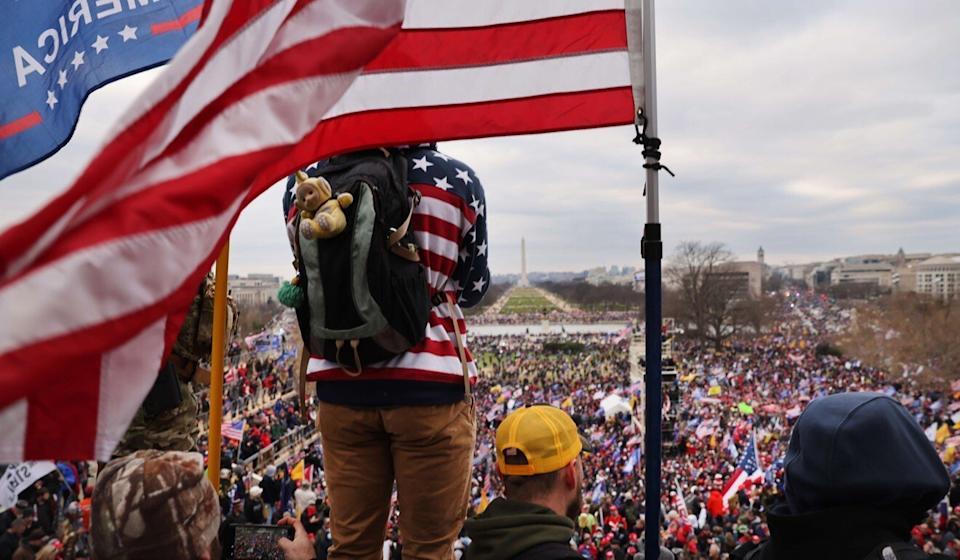 Trump supporters outside the US Capitol building on Wednesday. Photo: AFP