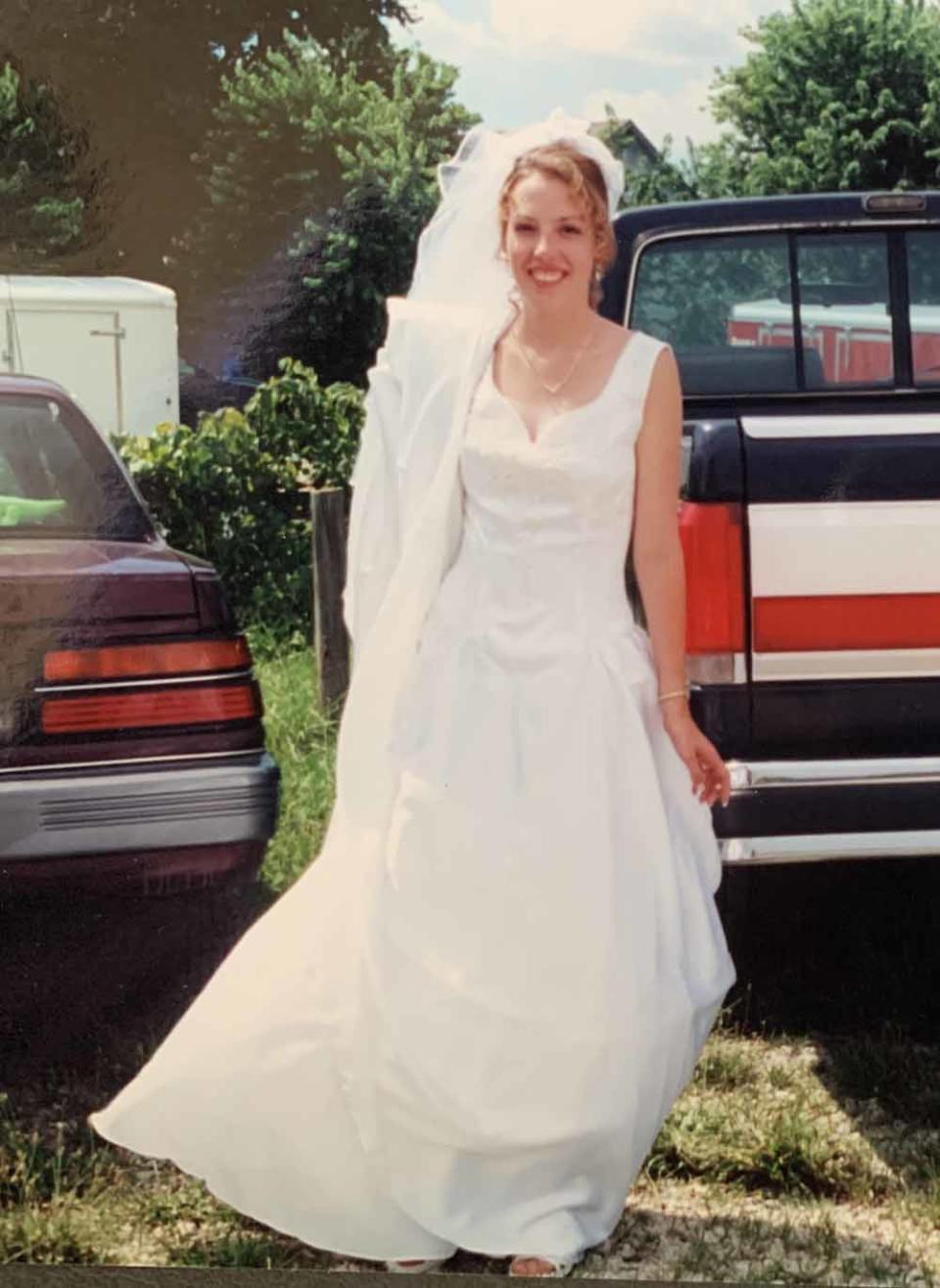 Kendra Blair on her wedding day when she was 19. (PA Real Life/Collect)