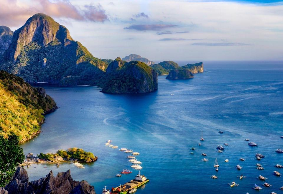 <p>Tucked away on the northern tip of Palawan island, El Nido is home to off-the-beaten path beaches surrounded by limestone cliffs.</p>