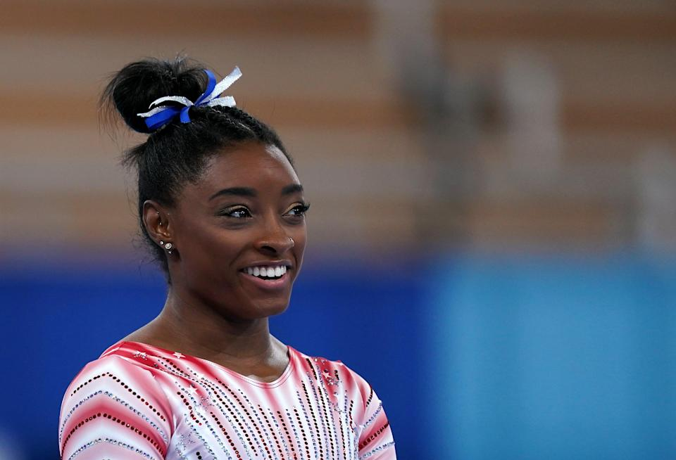 USA's Simone Biles announced she would be competing in the beam final (Mike Egerton/PA) (PA Wire)