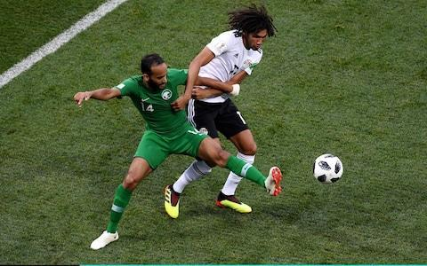 """Group standings and permutations You are the VAR: Think you can do better than the World Cup referees? Test yourself here Get Telegraph Football WhatsApp for in-match analysis and talking points throughout the World Cup Jim White: Fantastic fans and where to find them at World Cup 2018 Egypt and Saudi Arabia were playing only for pride at the Volgograd arena, but neither side could be particularly proud of their performance. Egypt had to moments to remember - a fine Salah goal and a brilliant Essam El Hadary penalty save, but they couldn't find a winner. When the opening goal came, on 22 minutes, it had to be Salah. A long ball over the top by Abdallah El Said split the defence and was calmly brought down by the Liverpoool frontman, who then deftly lifted it over the oncoming Saudi Arabian goalkeeper Yasser Al Mosailem. Then, in the 38th minute, a Fathy handball meant that Saudi Arabia had a penalty, and Egypt's 45-year-old goalkeeper Essam El Hadary had the chance to be a hero. And he took it. The oldest player to play in a World Cup saved a penalty. If only Egypt could have ended the game there. Just five minutes later, and after a long look at the VAR screens Saudi Arabia were given another penalty. This time Faraj made the net bulge from the spot and the scores were levelled. Both sides had their chances in the second half, but neither was clinical enough. It took 71 minutes for the Mexican waves to start, and really, the fans did well to last that long. The game, although high on chances was low on quality. """"I think you can see why these teams are going home,"""" said Iain Dowie, on ITV, and he was right. 5:07PM Team shapes Average touch positions (full time) 5:00PM Saudi Arabia's attempts on goal Saudi Arabia vs Egypt shots on goal 4:59PM FULL TIME - SAUDI ARABIA WIN! That's it. Thank heavens! No fluidity, poor passing and just nothing of substance to offer. At least the goalkeeper saved a penalty on his record-breaking day and Saudi Arabia deserved the wing. No """