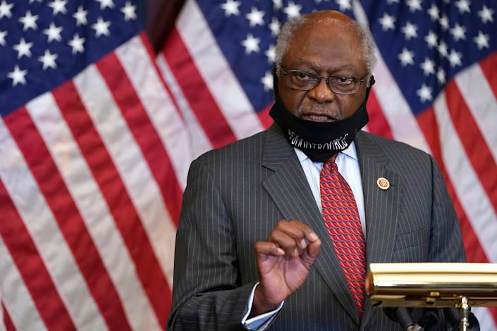 In this Sept. 17, 2020, file photo, House Majority Whip James Clyburn, of S.C., speaks during a news conference about COVID-19, on Capitol Hill in Washington. Clyburn believes the turbulent 1960s have lessons we should heed today.