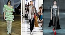 <p>Usually a fabric reserved for the winter months, lace is making an unanticipated foray into spring/summer. Victoria Beckham introduced us to work-appropriate shirts forged from the romantic material while Preen reminded us that ruffles are back for another round this season. <em>[Photo: Getty]</em> </p>