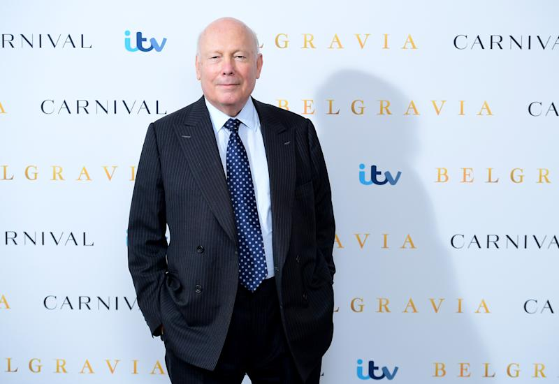 Julian Fellowes attending the Belgravia photocall held at the Soho Hotel in London. (Photo by Ian West/PA Images via Getty Images)