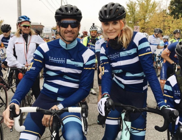 "<p>In tandem! Dempsey and his wife, makeup artist Jillian Fink Dempsey, saddled up for his run/walk/cycle charity event in Maine, the Dempsey Challenge. Proceeds benefit the Dempsey Centers, which give money to individuals and families impacted by cancer. (Photo: <a href=""https://www.instagram.com/p/BZ_WJKYgEm9/?hl=en&taken-by=patrickdempsey"" rel=""nofollow noopener"" target=""_blank"" data-ylk=""slk:Patrick Dempsey via Instagram"" class=""link rapid-noclick-resp"">Patrick Dempsey via Instagram</a>) </p>"
