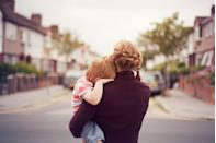 """<p>According to Pew Research Center data from 2017, about <a href=""""https://www.pewresearch.org/fact-tank/2019/05/08/facts-about-u-s-mothers/"""" rel=""""nofollow noopener"""" target=""""_blank"""" data-ylk=""""slk:one in four, or roughly"""" class=""""link rapid-noclick-resp"""">one in four, or roughly </a><a href=""""https://www.pewresearch.org/fact-tank/2019/05/08/facts-about-u-s-mothers/"""" rel=""""nofollow noopener"""" target=""""_blank"""" data-ylk=""""slk:24 percent of, mothers"""" class=""""link rapid-noclick-resp"""">24 percent of, mothers</a> in the US are raising kids without a spouse or partner.</p>"""