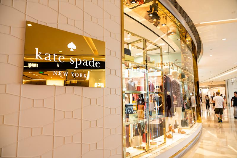 SHANGHAI, CHINA - 2019/09/08: American luxury fashion design house Kate Spade store and logo seen at the IFC Mall in Shanghai. (Photo by Alex Tai/SOPA Images/LightRocket via Getty Images)