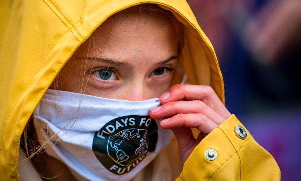 """Greta Thunberg joins a """"Fridays for Future"""" protest in front of the Swedish parliament"""