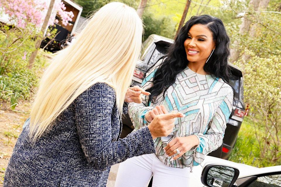 THE REAL HOUSEWIVES OF POTOMAC -- Pictured: Mia Thornton and Karen Huger