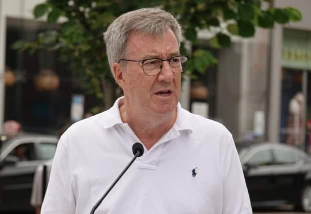 Ottawa Mayor Jim Watson says councillors can receive information through direct questions to OC Transpo, and the agency's staff needs to focus on the issues that caused last week's light rail and bus problems. (Giacomo Panico/CBC - image credit)