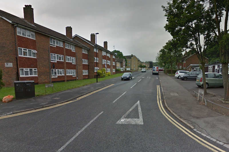 Police incident: Shrublands Avenue in Croydon has been cordoned off after a boy was left fighting for life: Google