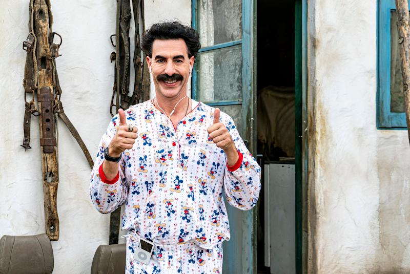 """Sacha Baron Cohen reprises one of his famous roles in """"Borat Subsequent Moviefilm."""""""