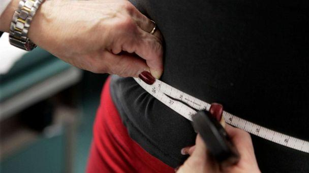 PHOTO: In this Jan. 20, 2010 file photo, a subject's waist is measured during an obesity prevention study in Chicago. According to a Centers for Disease Control and Prevention study released on Thursday, Feb. 27, 2020. (M. Spencer Green/AP)