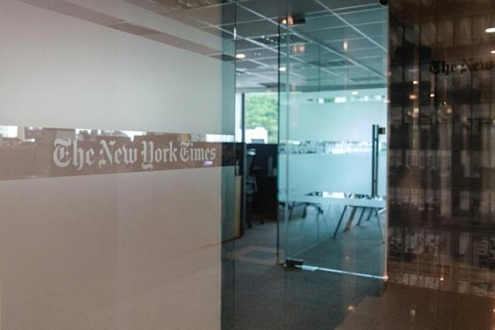 The New York Times has had a presence in Hong Kong for decades (AFP Photo/Anthony WALLACE)