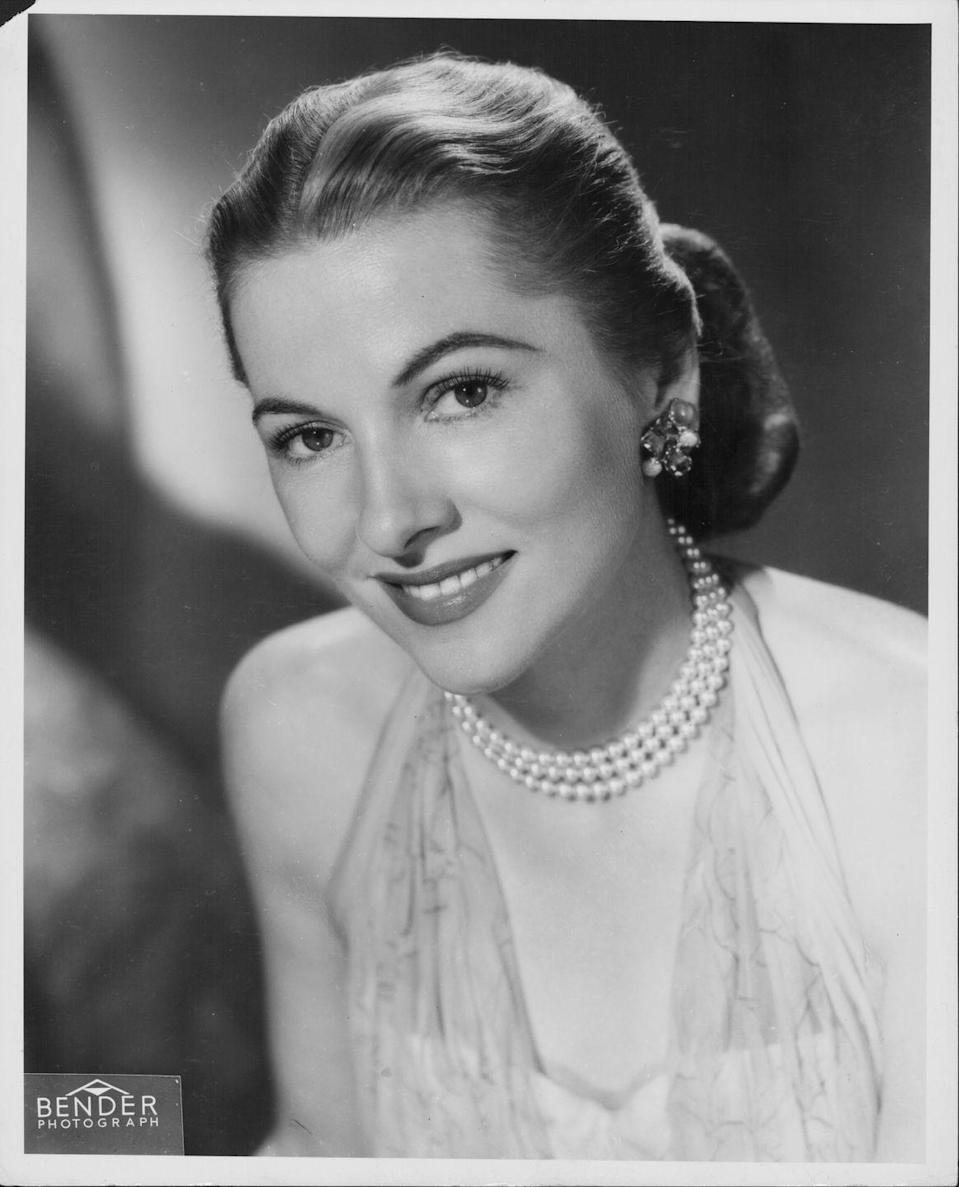 """<p>As the result of an emphasis on mimicking actresses like Joan Fontaine and Lana Turner, stylish women opted for <a href=""""http://www.goodhousekeeping.com/life/entertainment/news/g3239/zsa-zsa-gabor-young-quotes/"""" rel=""""nofollow noopener"""" target=""""_blank"""" data-ylk=""""slk:glamorous hairstyles"""" class=""""link rapid-noclick-resp"""">glamorous hairstyles</a> like thick, polished chignons, sometimes accessorizing them with clips or pins.</p>"""