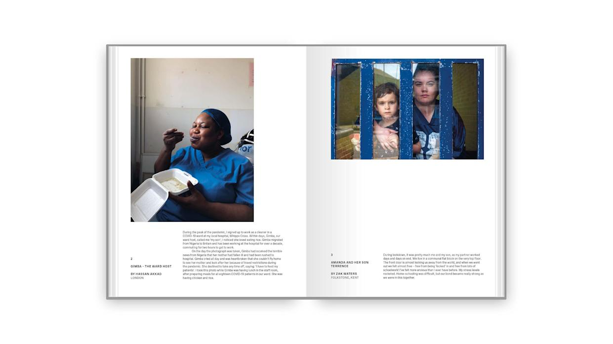 Handout photo issued by Kensington Palace of pages from Hold Still: A Portrait of Our Nation in 2020, a book of 100 photographs illustrating the past year of the pandemic. Issue date: Sunday March 28, 2021.
