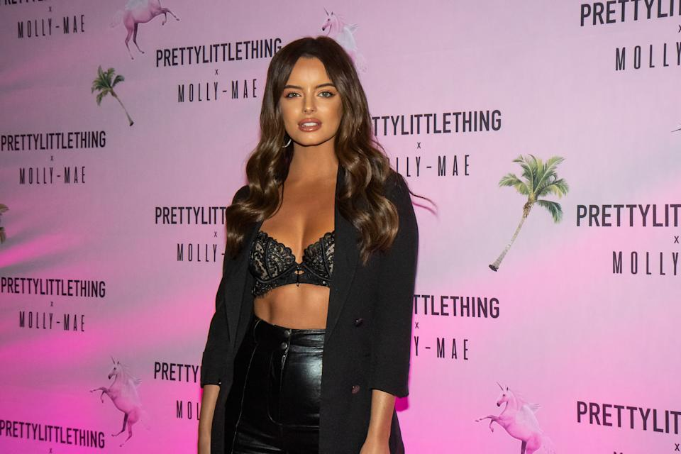 MANCHESTER, ENGLAND - SEPTEMBER 01: Maura Higgins attends the Pretty Little Thing X Molly-Mae party at Rosso on September 01, 2019 in Manchester, England. (Photo by Carla Speight/Getty Images)