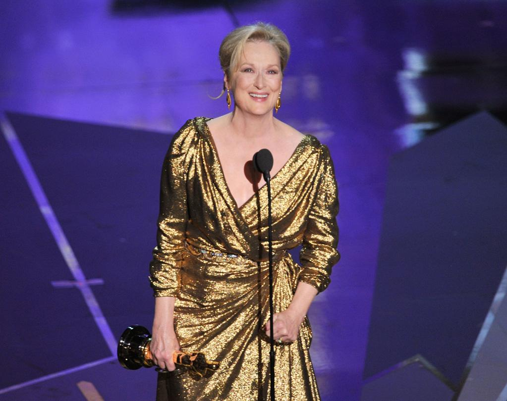 Meryl Streep on stage during the 84th Annual Academy Awards in Hollywood, CA.