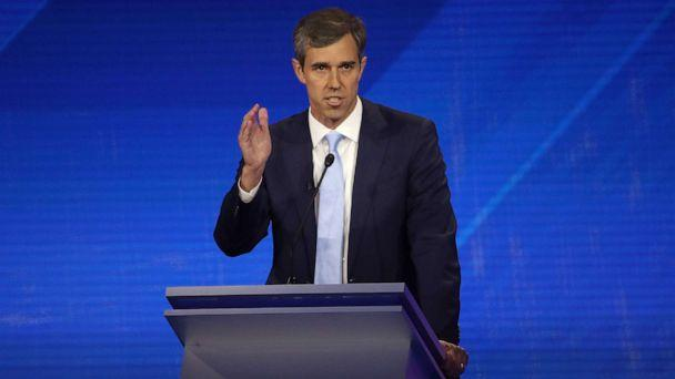 PHOTO: Democratic presidential candidate Beto O'Rourke speaks during the Democratic Presidential Debate at Texas Southern University's Health and PE Center on Sept. 12, 2019, in Houston. (Win Mcnamee/Getty Images)
