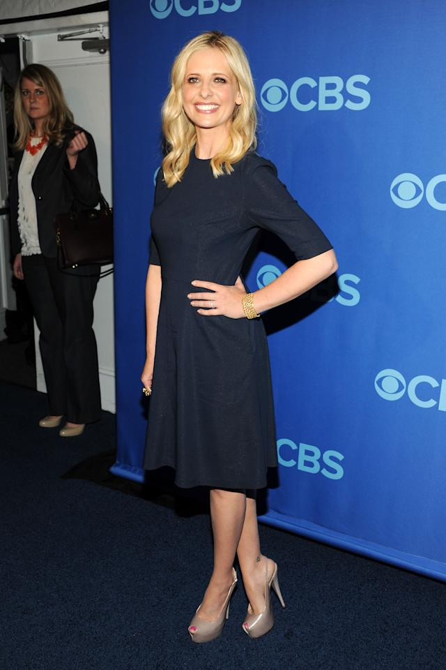 NEW YORK, NY - MAY 15:  Sarah Michelle Gellar attends CBS 2013 Upfront Presentation at The Tent at Lincoln Center on May 15, 2013 in New York City.  (Photo by Ben Gabbe/Getty Images)