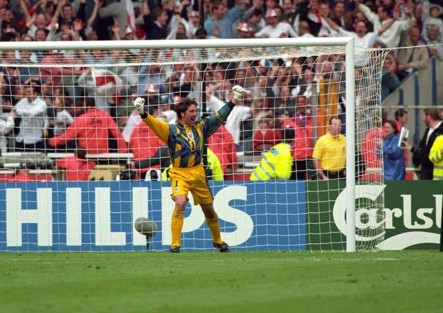 David Seaman's saves in the penalty shoot-out win over Spain helped England reach the semi-finals of Euro 96 at Wembley