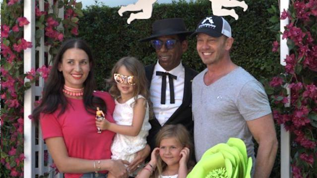 'Snarknado' star Ian Ziering and his wife, Erin Ludwig renewed their vows at Comic-Con (Credit: Yahoo)