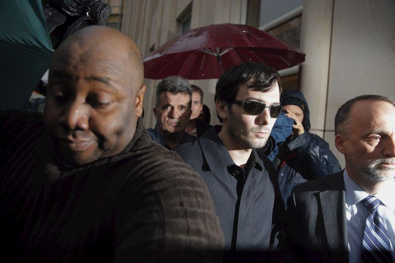 Martin Shkreli departs the U.S. Federal Court in New York