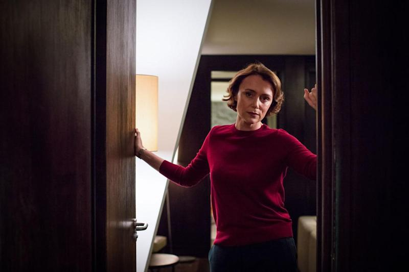 Seduction: Keeley Hawes' character, home secretary Julia Montague, disappeared after a bombing in the show. But there are rumours, even stirred by the show's creator, that she may be making a return. (BBC)