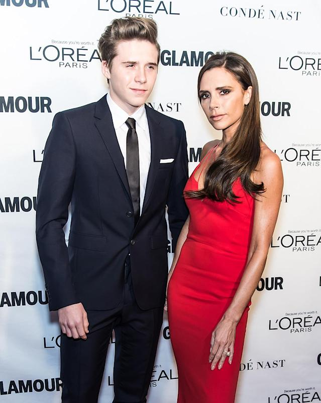 <p>Victoria gave birth to Brooklyn Beckham when she was 24. (Photo by Gilbert Carrasquillo/FilmMagic) </p>