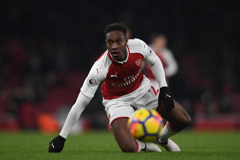 Striking chance: Welbeck is playing for his Arsenal future: Arsenal FC via Getty Images