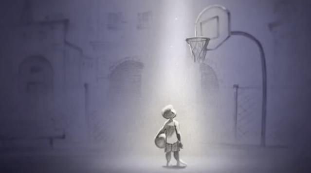 Little Kobe has big dreams in <i>Dear Basketball</i>. (Image: Go90)