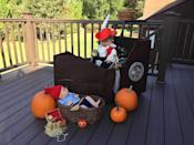 """<p>The most fearsome villain on the high seas — so long as there are no crocs around! This Captain Hook ensemble became a family costume with the addition of a baby pirate Smee. </p><p><em><a href=""""https://www.instagram.com/p/BMPYTpkjyiE/"""" rel=""""nofollow noopener"""" target=""""_blank"""" data-ylk=""""slk:See more at oibelieveinisaiah »"""" class=""""link rapid-noclick-resp"""">See more at oibelieveinisaiah »</a></em></p>"""
