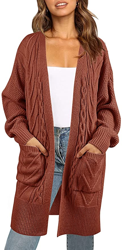 """<br><br><strong>MeroKeety</strong> Chunky Cardigan Open Front Sweater Coat, $, available at <a href=""""https://amzn.to/3BbE5fT"""" rel=""""nofollow noopener"""" target=""""_blank"""" data-ylk=""""slk:Amazon"""" class=""""link rapid-noclick-resp"""">Amazon</a>"""