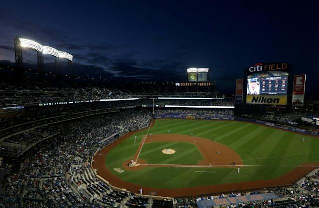 The New York Mets play the Los Angeles Dodgers at Citi Field in New York in September 2019 (AFP Photo/Jim McIsaac)