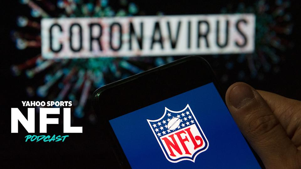 After a large swath of the Miami Marlins tested positive for coronavirus over the weekend, the NFL's plan to start its season safely has been called into question. (Photo Illustration by Budrul Chukrut/SOPA Images/LightRocket via Getty Images)